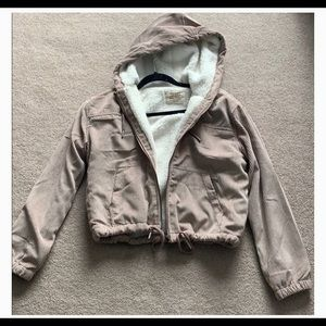 Cropped Sherpa Utility Jacket